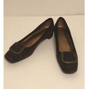 Talbots Women's Size 6 Brown Leather Suede Heels